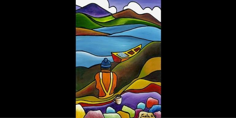 Fishing Lyons by Saileen D Art