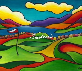 Four Shore golf art saileen drumm