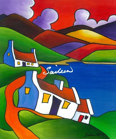 Ti For Two Irish Cottage Painting By Saileen Drumm