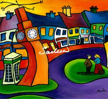 clock in westport mayo by saileen drumm artist