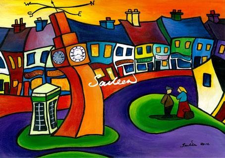 clock in westport mayo by saileen drumm artist